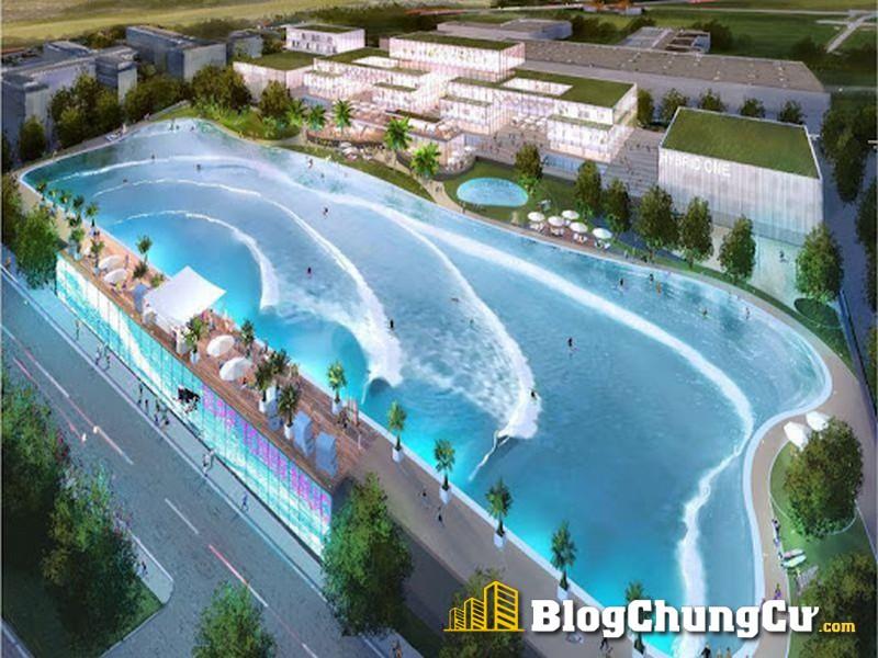 Bể bơi tạo sóng tại The Empire Vinhomes Ocean Park 2 Hưng Yên