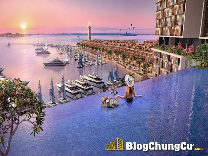Bể bơi vô cực Sun Marina Town