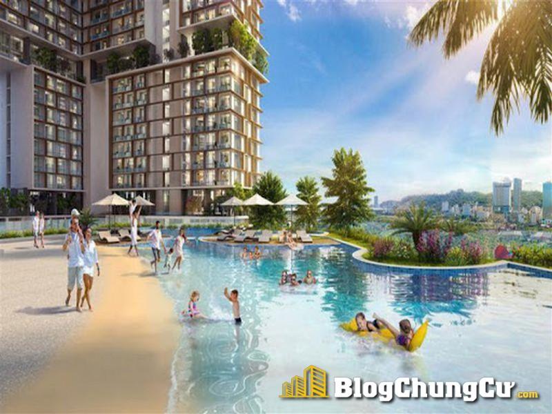 Phối cảnh bể bơi concept bãi biển Sun Marina Town