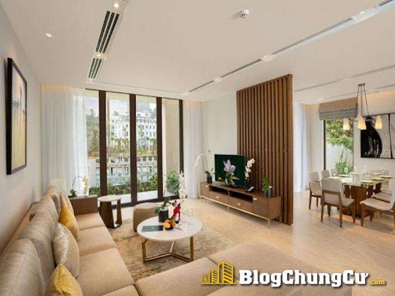 Phòng khách căn hộ Sun Premier Village Hạ Long Bay